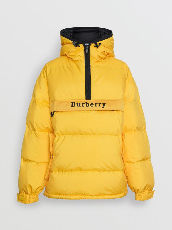 Down-filled Anorak with Detachable Mittens in Bright Yellow - Men | Burberry - cell image 3
