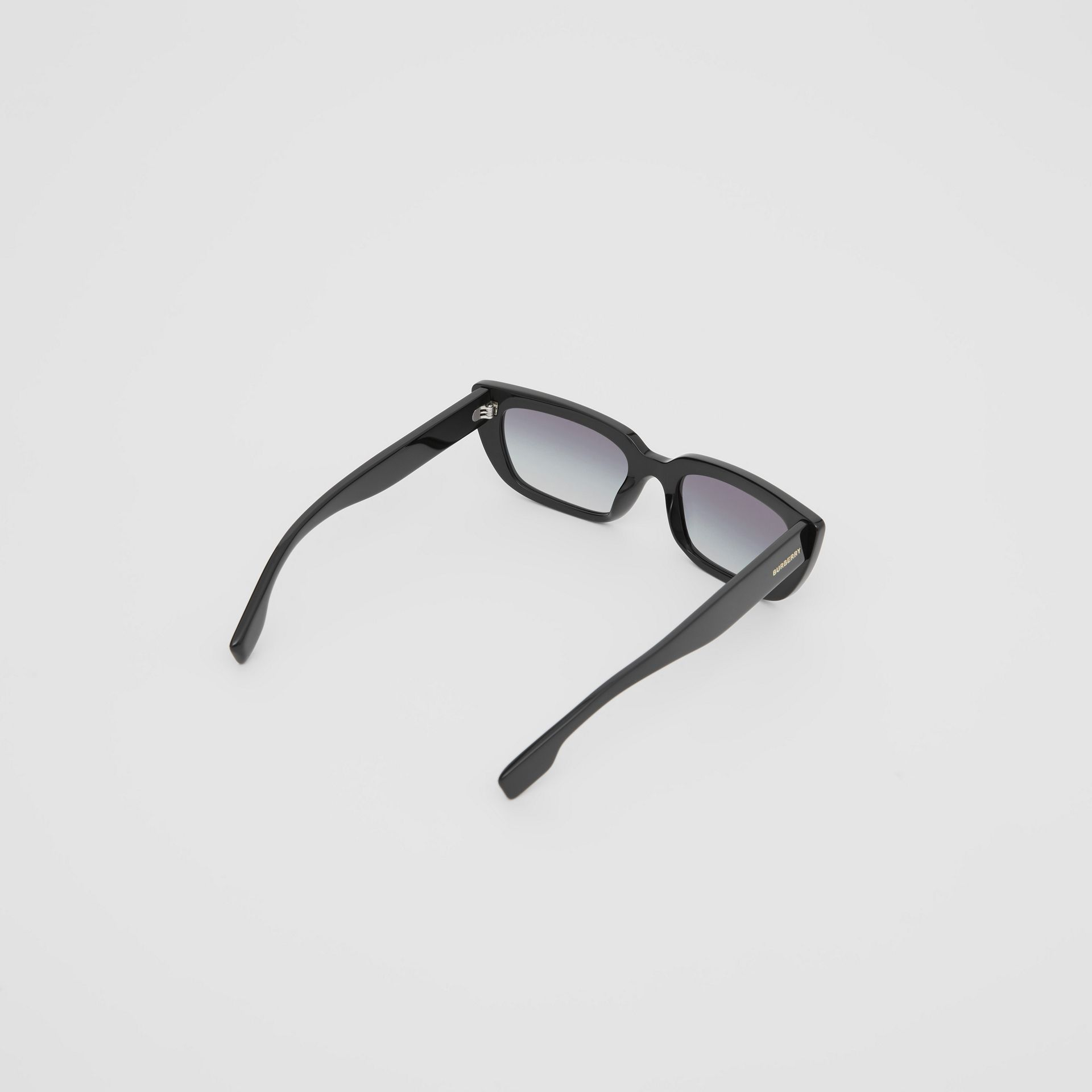 Bio-acetate Rectangular Frame Sunglasses in Black - Women | Burberry Australia - gallery image 4