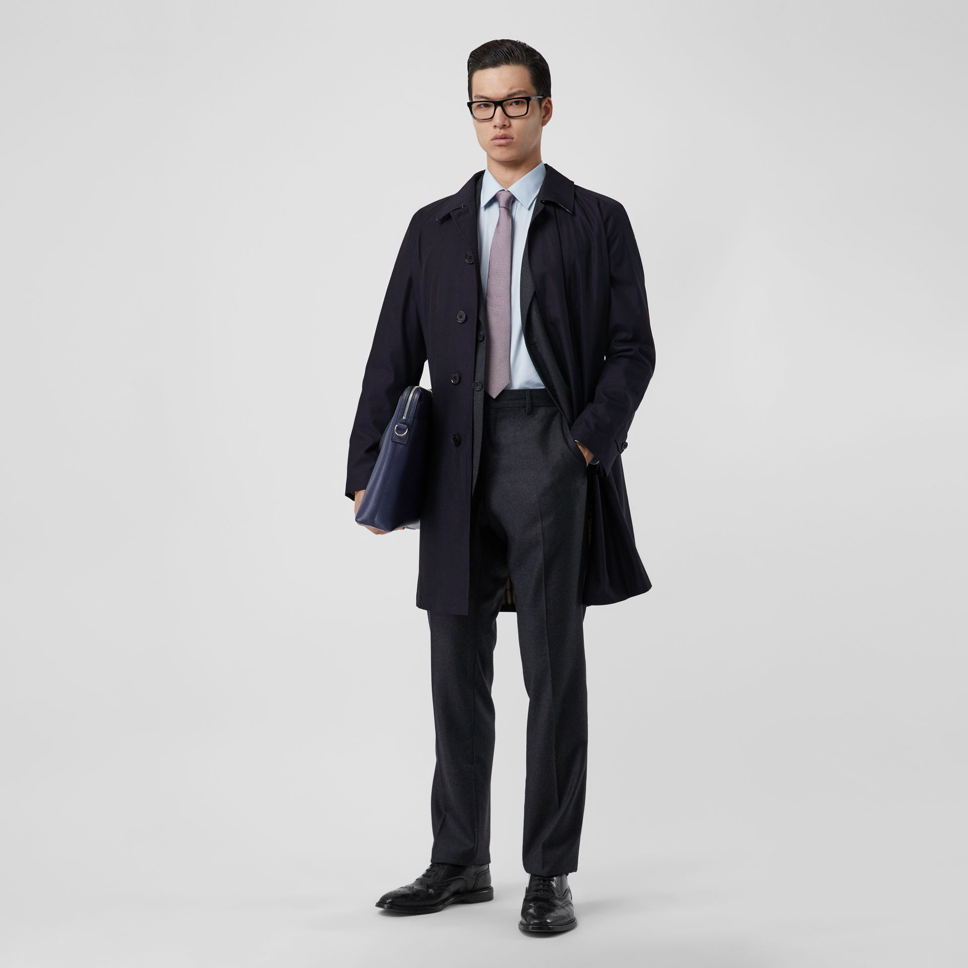 The Camden Car Coat in Blue Carbon - Men | Burberry - gallery image 5