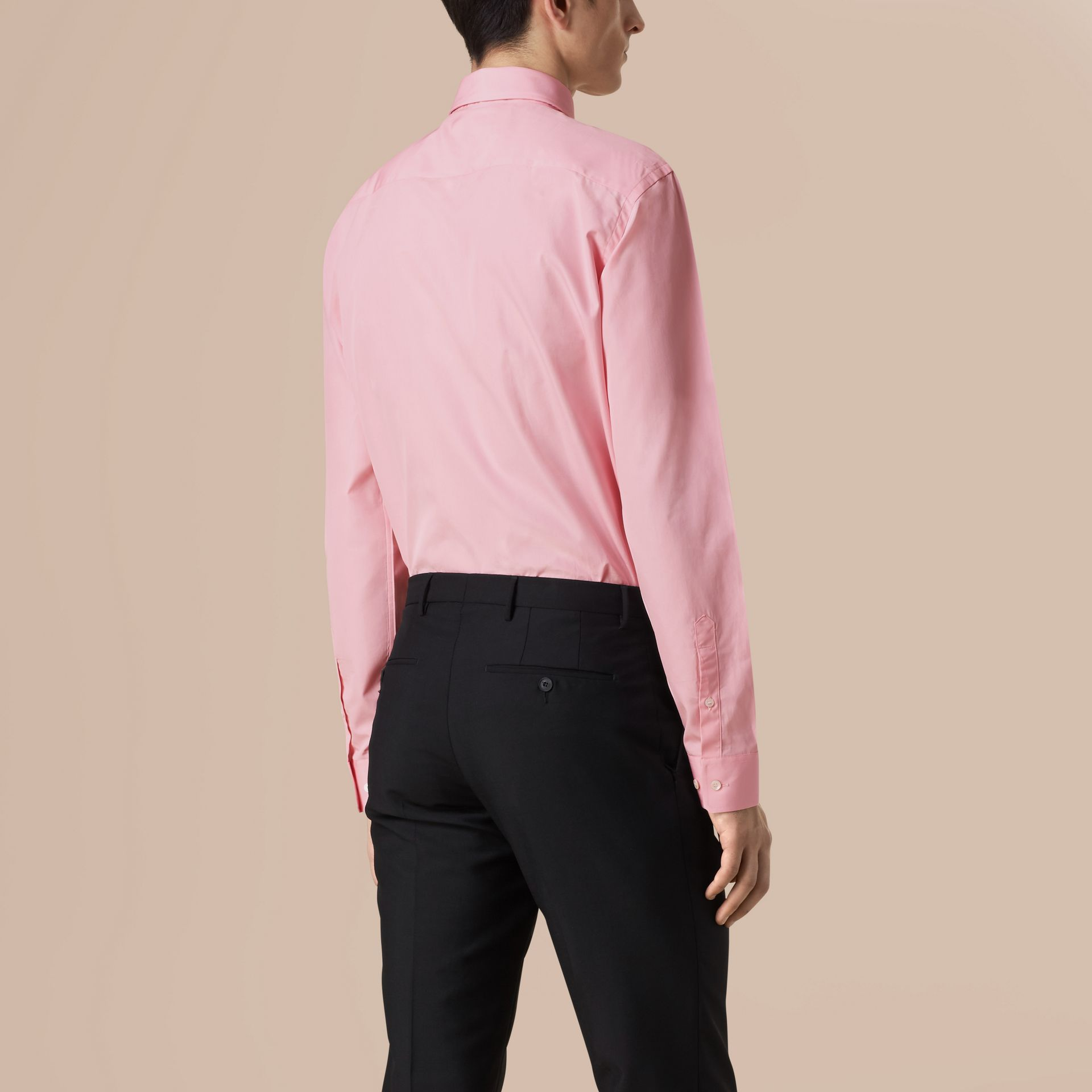 City pink Modern Fit Button-down Collar Cotton Poplin Shirt City Pink - gallery image 3