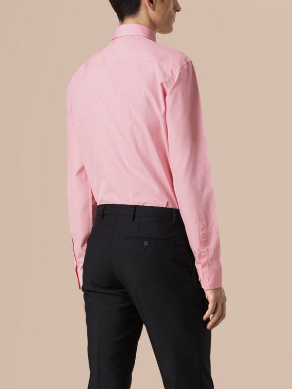 City pink Modern Fit Button-down Collar Cotton Poplin Shirt City Pink - cell image 2