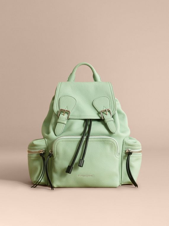 The Medium Rucksack in Deerskin with Resin Chain in Spearmint - Women | Burberry