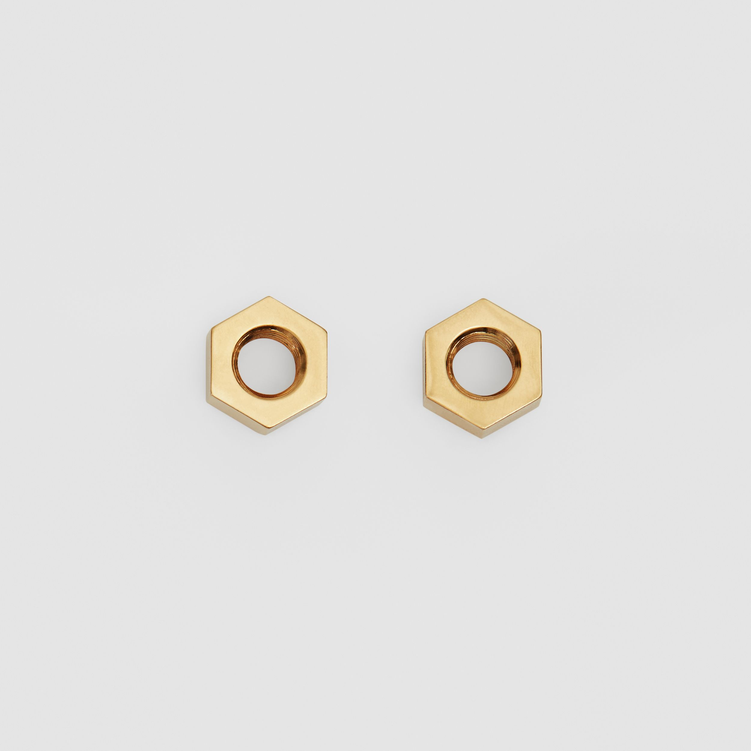 Gold-plated Nut Earrings in Light - Women | Burberry Australia - 1