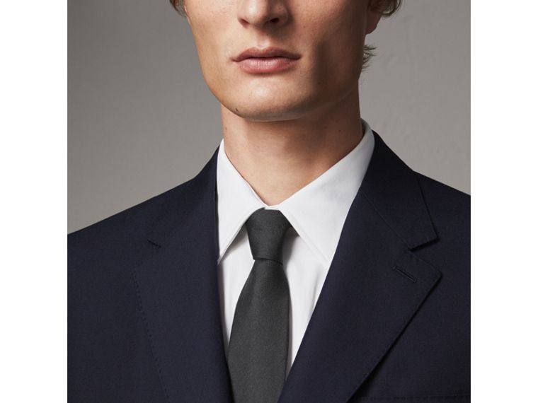 Classic Fit Wool Part-canvas Suit in Navy - Men | Burberry Hong Kong - cell image 1