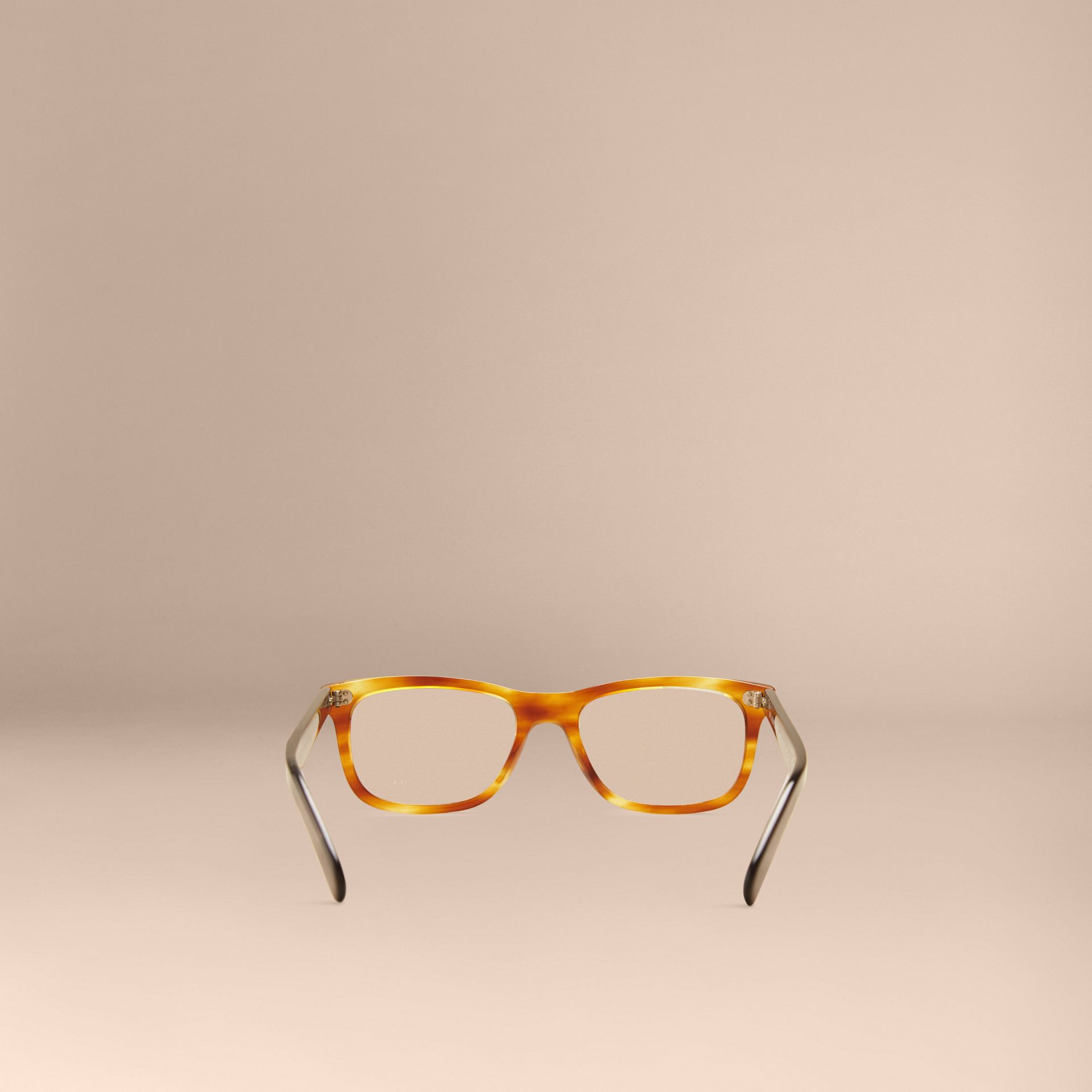 Square Optical Frames in Tortoise Amber - gallery image 4