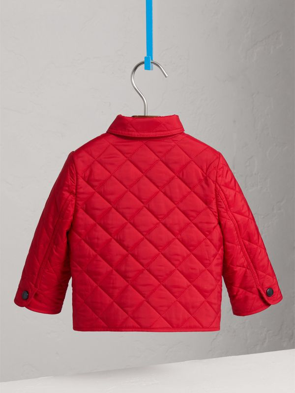 Lightweight Quilted Jacket in Bright Cherry Red | Burberry - cell image 3