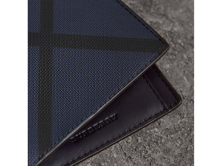 London Check International Bifold Wallet in Bright Lapis - Men | Burberry Australia - cell image 1