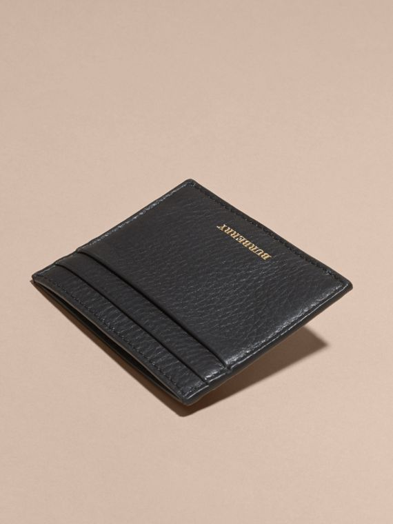 Black Riveted Haymarket Check and Leather Card Case - cell image 3