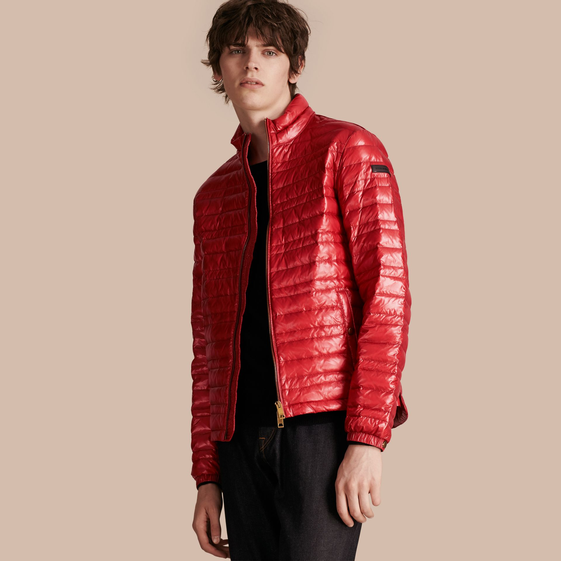 Lightweight Down-filled Jacket Parade Red - gallery image 1