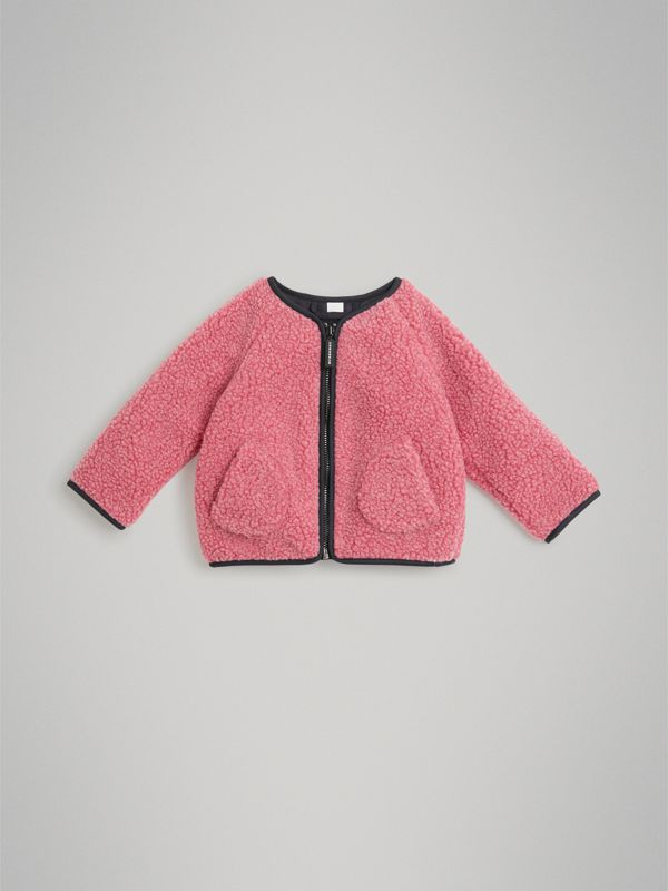 Faux Shearling Jacket in Rosewood - Children | Burberry Singapore - cell image 2