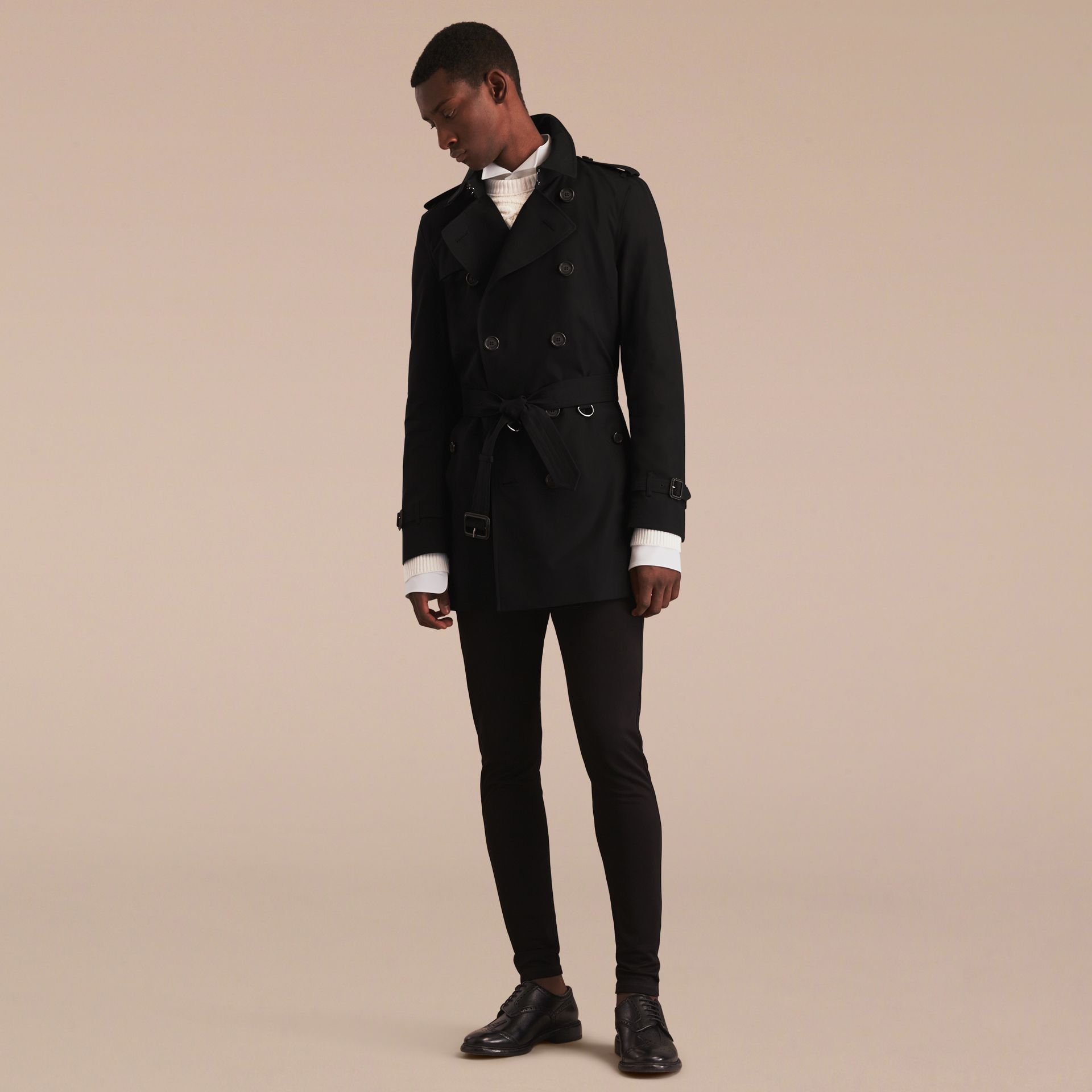 Black The Kensington – Mid-Length Heritage Trench Coat Black - gallery image 8