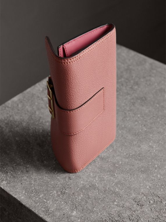 Textured Leather Continental Wallet in Dusty Pink - Women | Burberry United Kingdom - cell image 2
