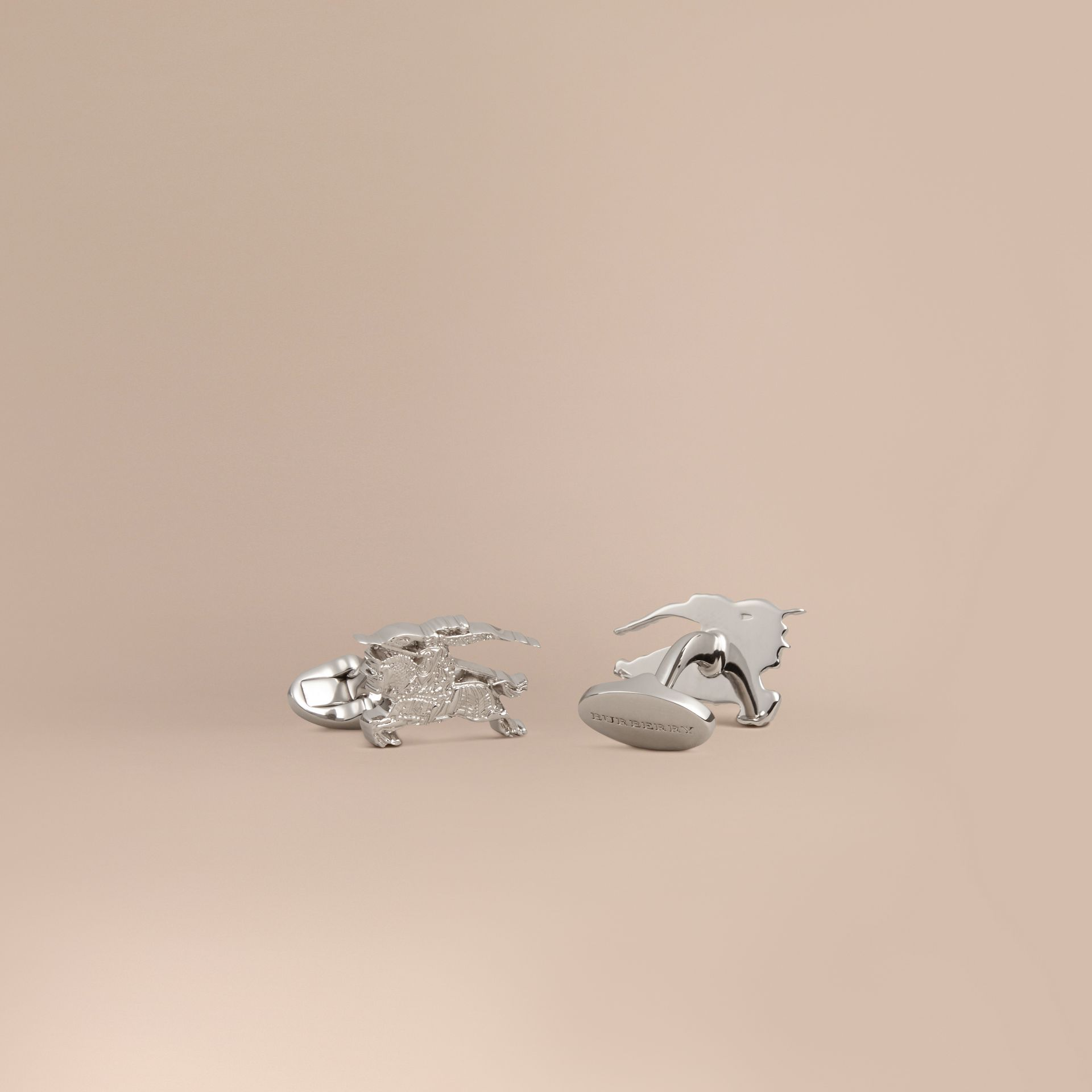 Equestrian Knight Cufflinks in Silver - Men | Burberry - gallery image 1