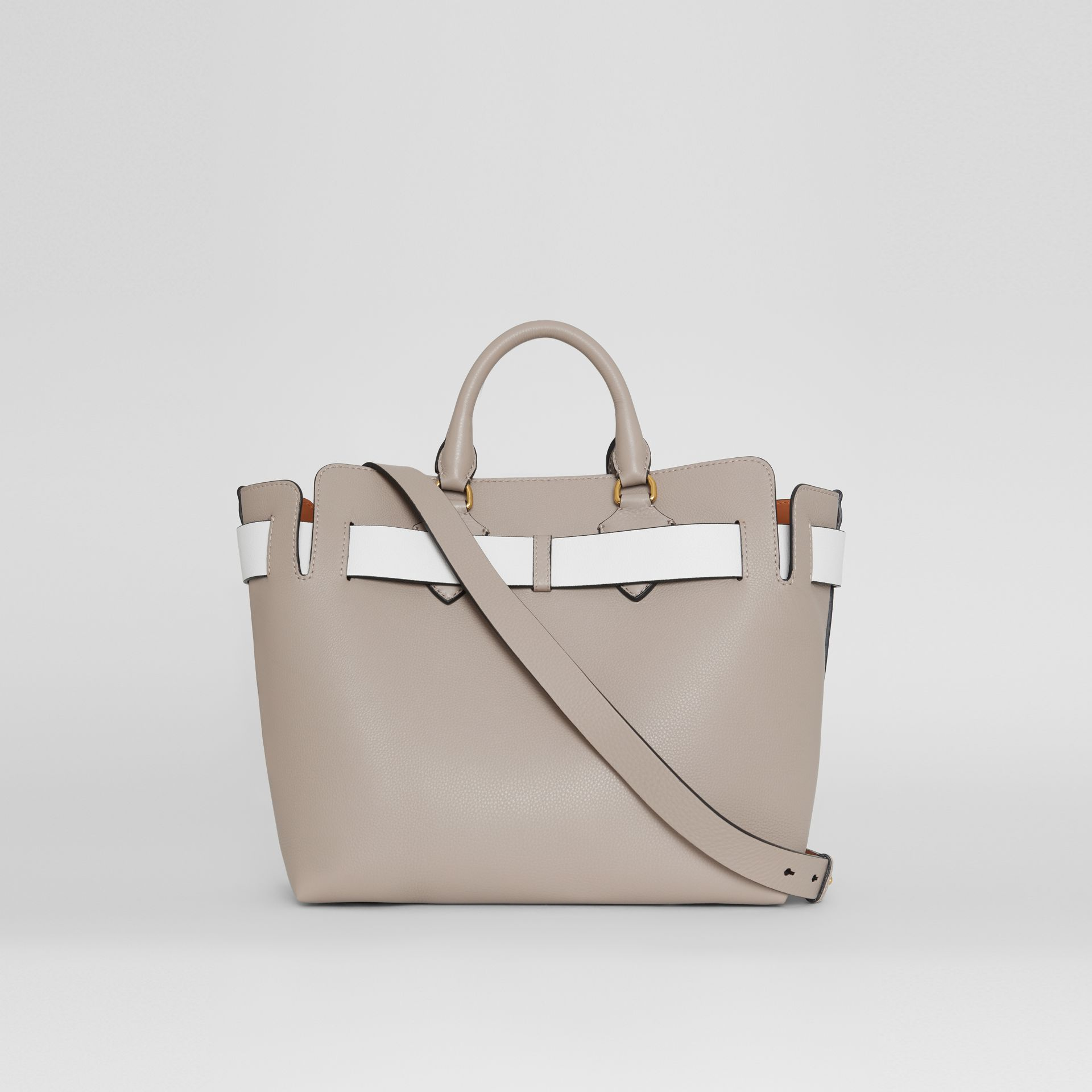 The Medium Leather Belt Bag in Mineral Grey - Women | Burberry United Kingdom - gallery image 7