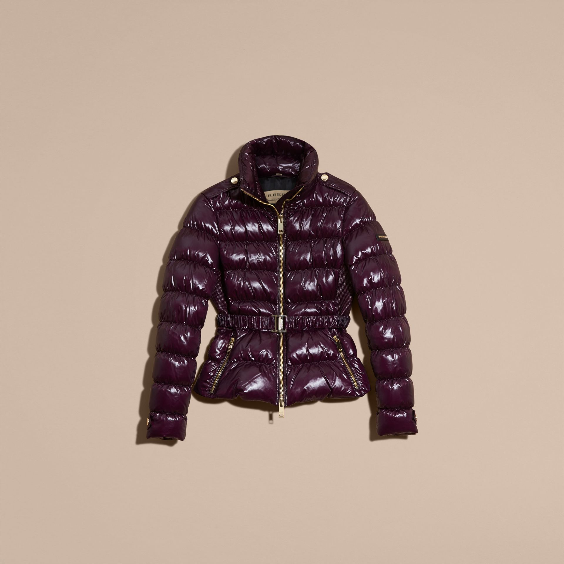 Dark elderberry Lightweight Down-filled Jacket - gallery image 4