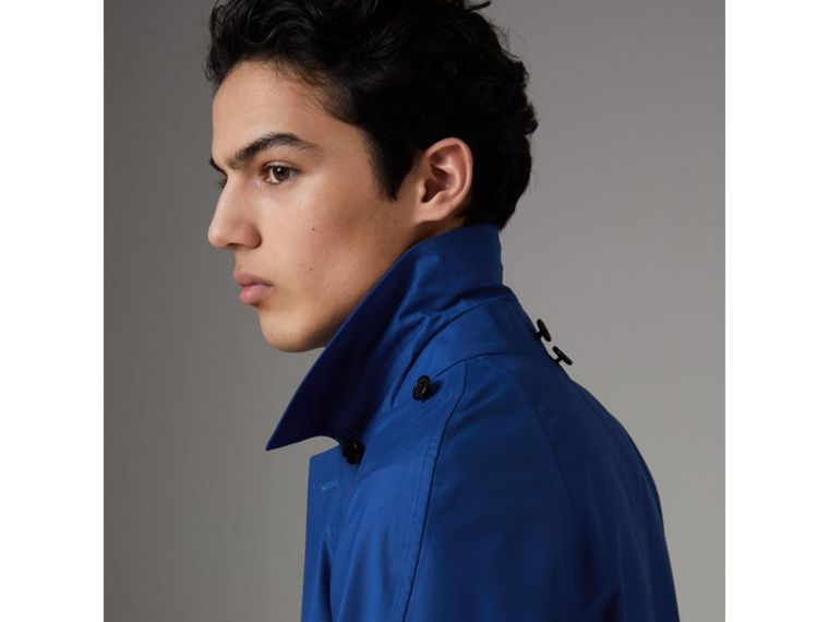 Detachable Hood Showerproof Car Coat in Bright Navy - Men | Burberry Singapore - cell image 4