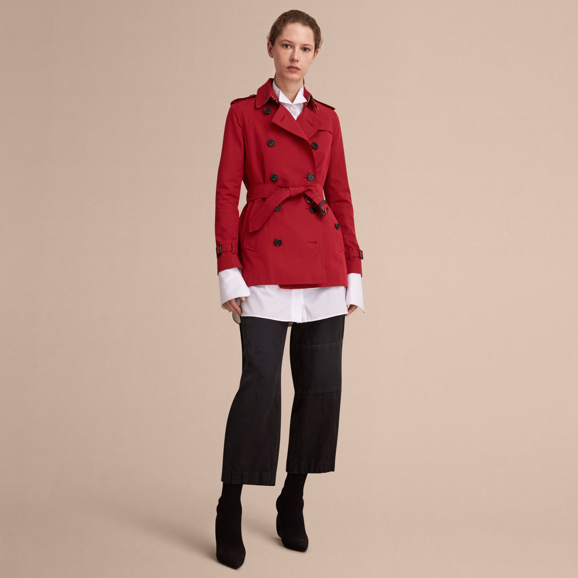 Parade red The Kensington - Trench coat Heritage curto Parade Red - galeria de imagens 8