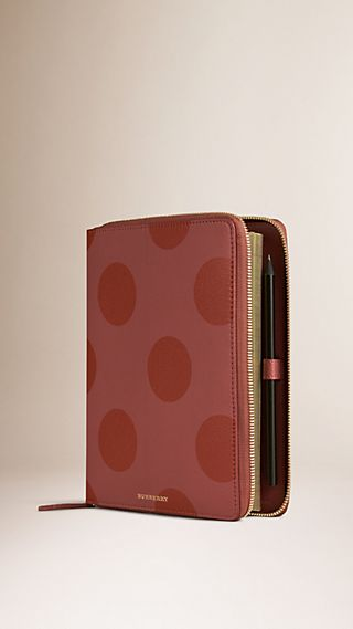 Ziparound Polka Dot Grainy Leather 2016 Diary