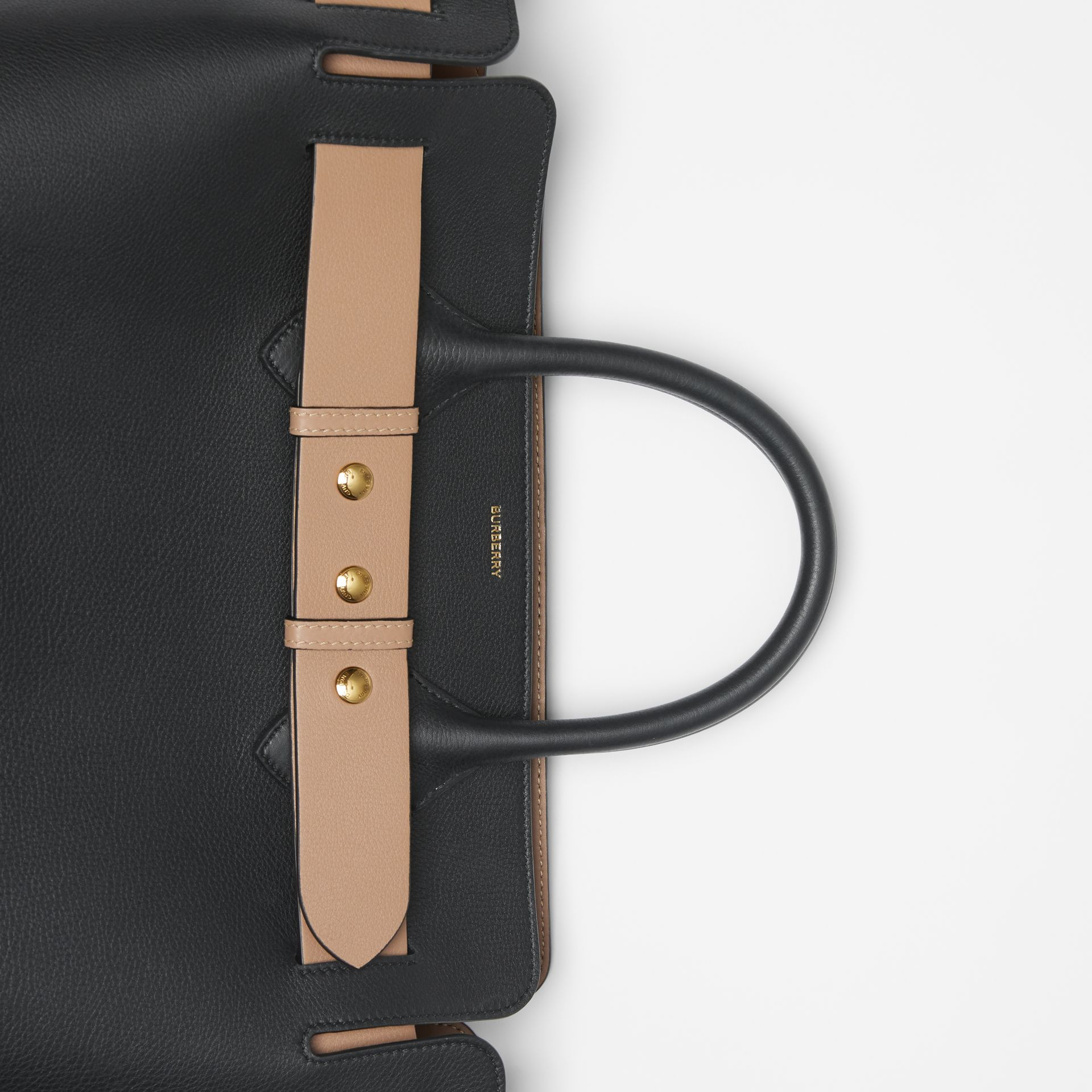 The Medium Leather Triple Stud Belt Bag in Black - Women | Burberry United Kingdom - gallery image 1