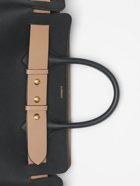 Borsa The Belt media in pelle con tre borchie (Nero) - Donna | Burberry - cell image 1