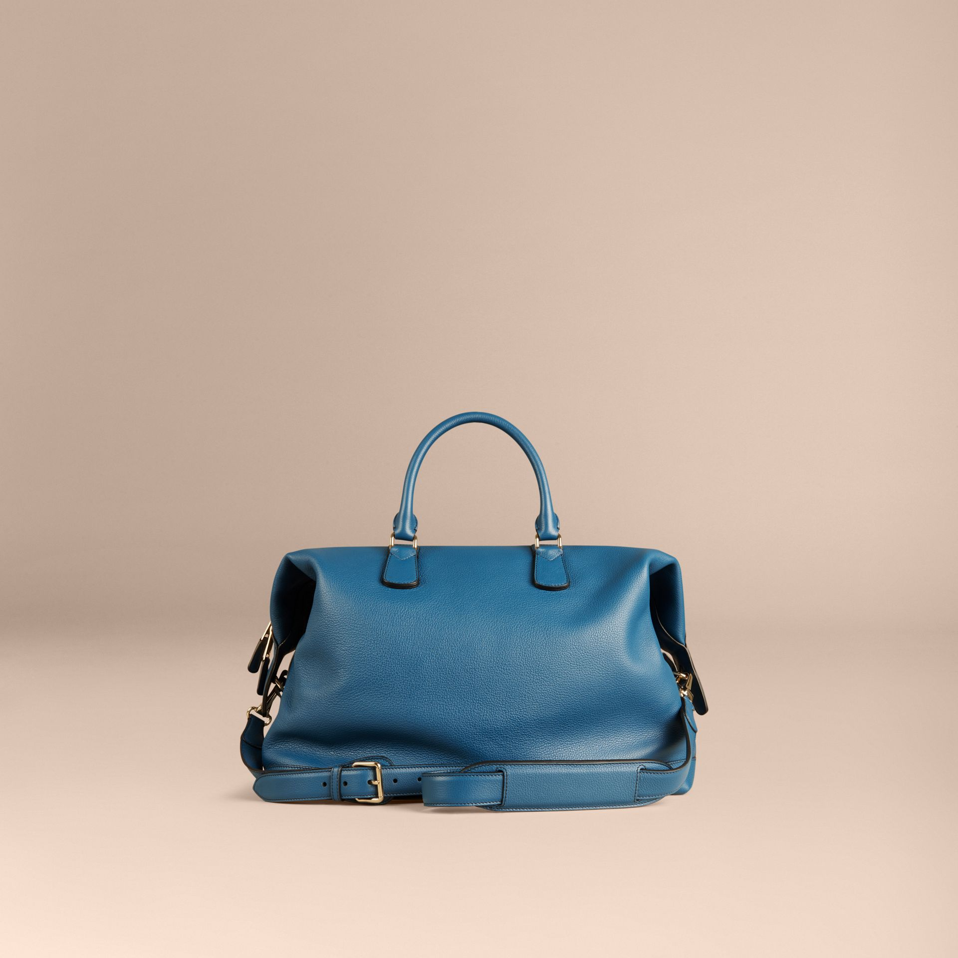 Mineral blue Grainy Leather Holdall Mineral Blue - gallery image 4