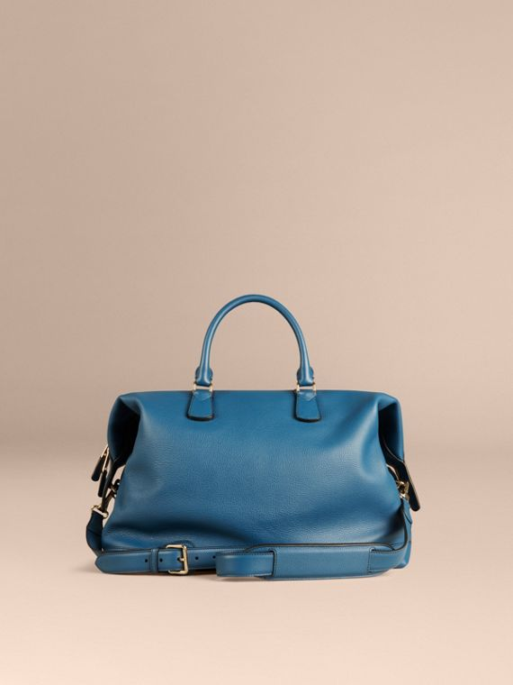 Mineral blue Grainy Leather Holdall Mineral Blue - cell image 3