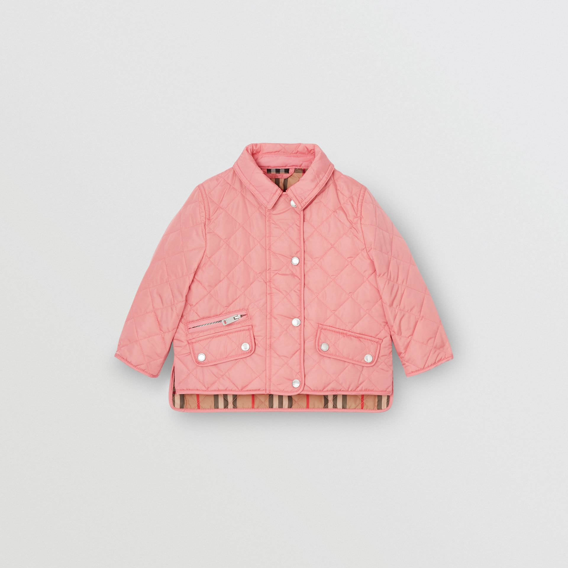 Lightweight Diamond Quilted Jacket in Dusty Pink - Children | Burberry - gallery image 0