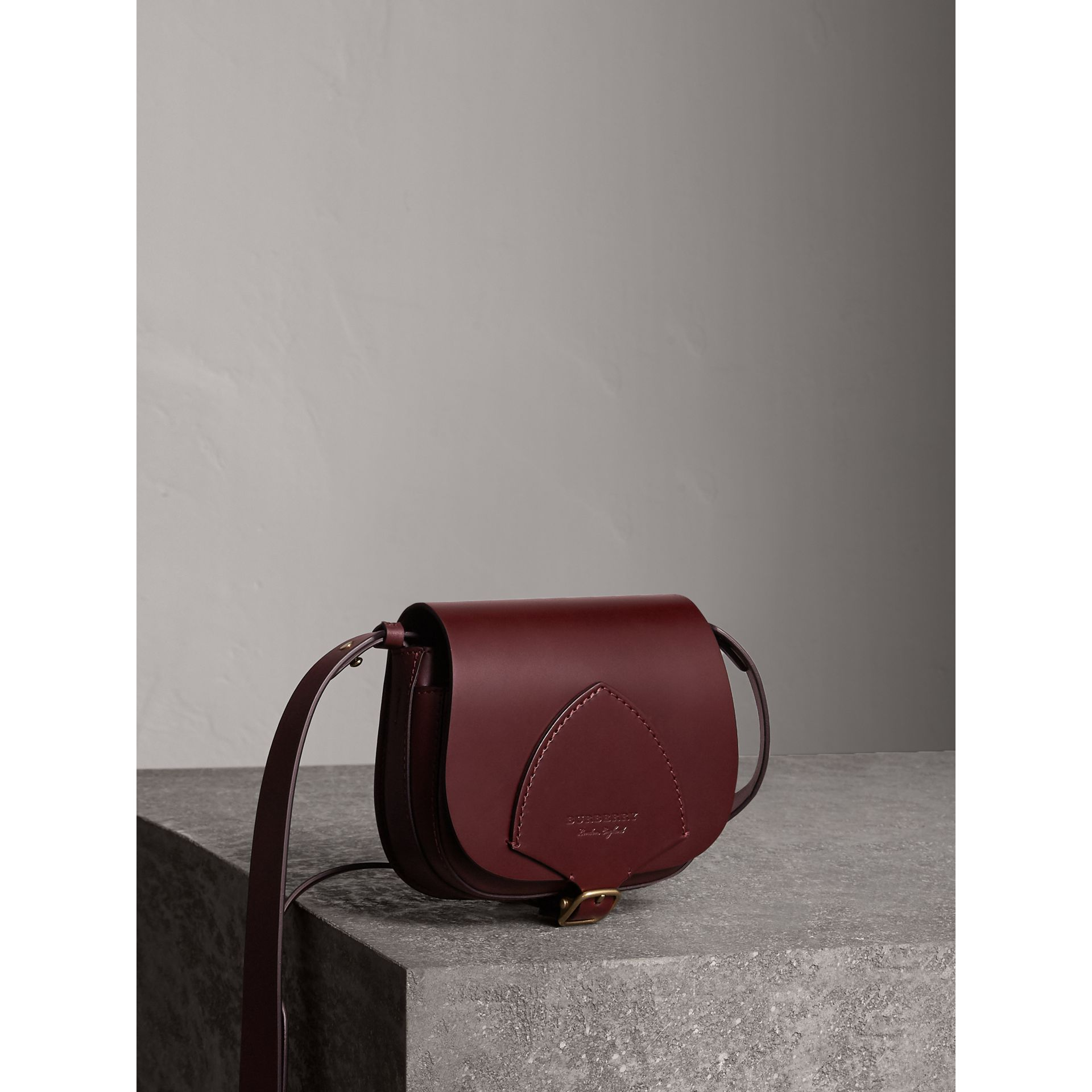 The Satchel in Bridle Leather in Deep Claret - Women | Burberry - gallery image 7