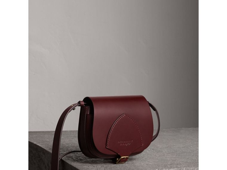 The Satchel in Bridle Leather in Deep Claret - Women | Burberry - cell image 4