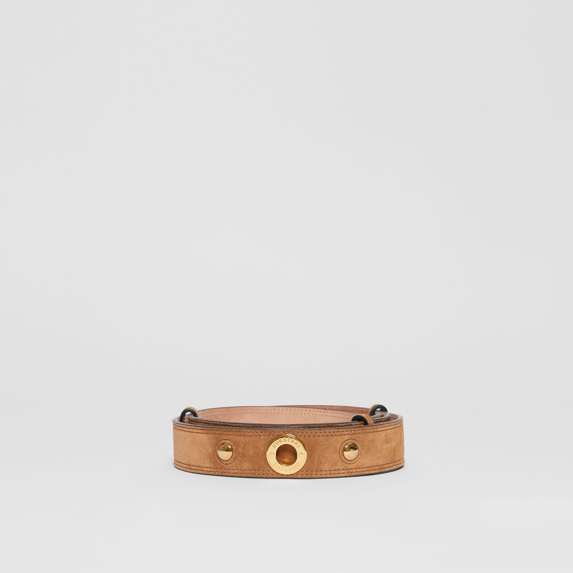 Triple Stud Leather Belt in Honey - Women | Burberry - gallery image 3