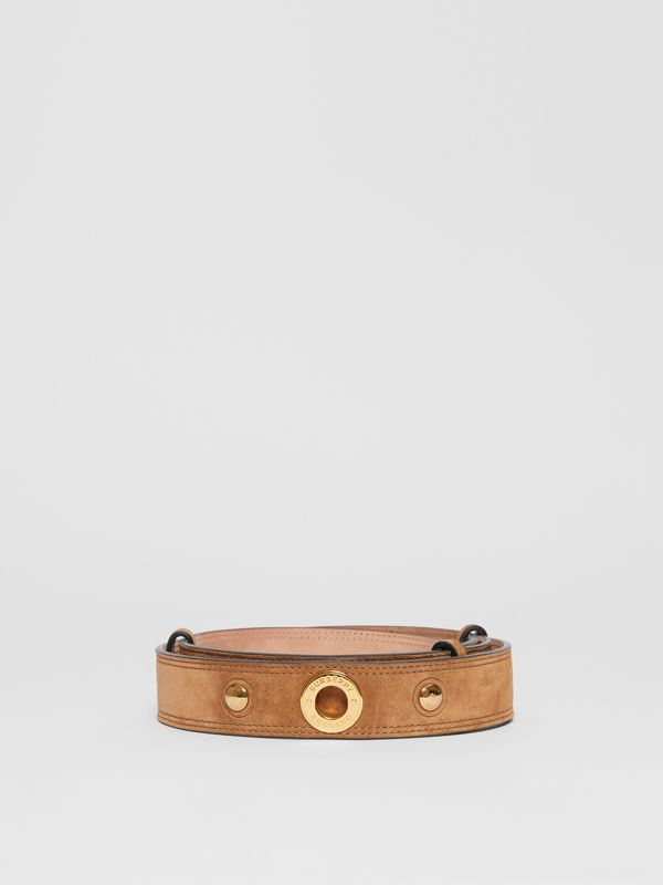 Triple Stud Leather Belt in Honey - Women | Burberry Australia - cell image 3