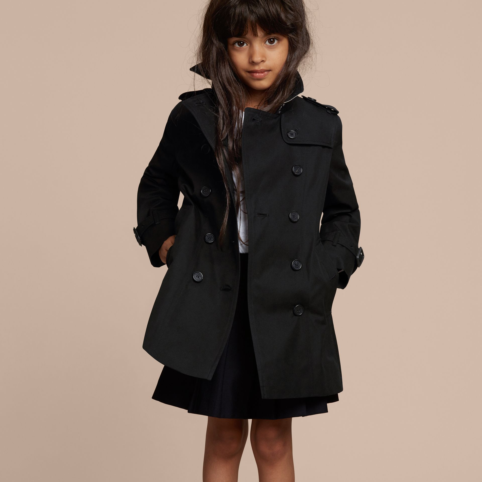 The Sandringham – Heritage Trench Coat in Black - Girl | Burberry - gallery image 3