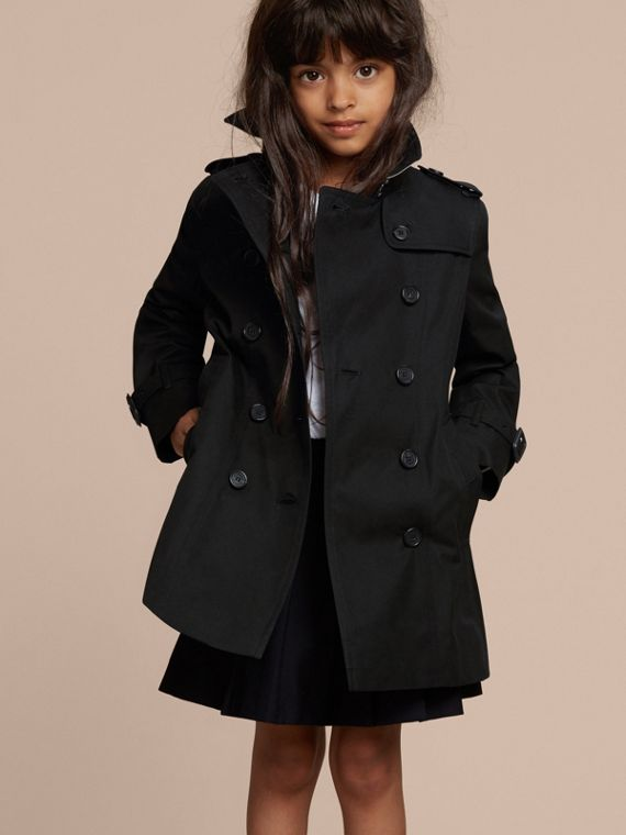 The Sandringham – Heritage Trench Coat in Black - Girl | Burberry - cell image 2
