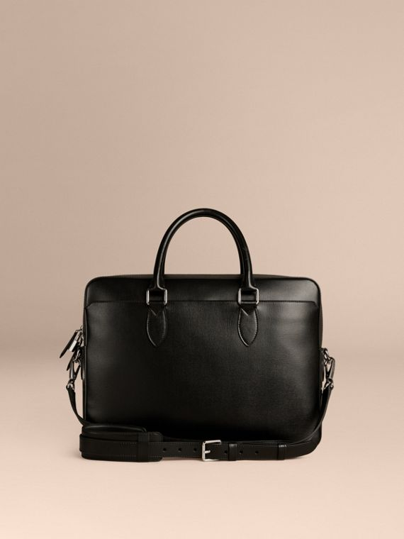 Large London Leather Briefcase Black - cell image 3