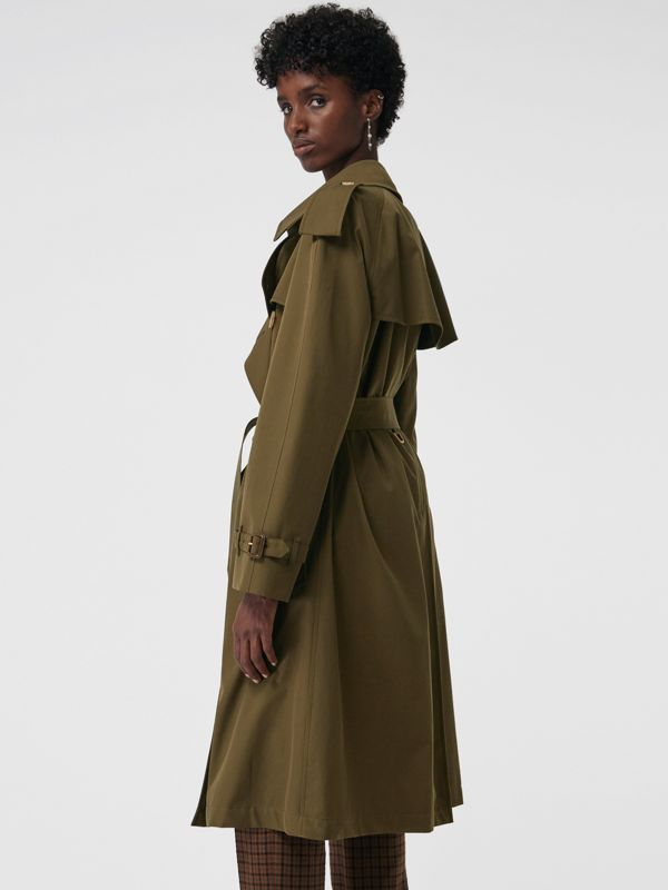 The Westminster Heritage Trench Coat in Dark Military Khaki - Women | Burberry Singapore - cell image 2