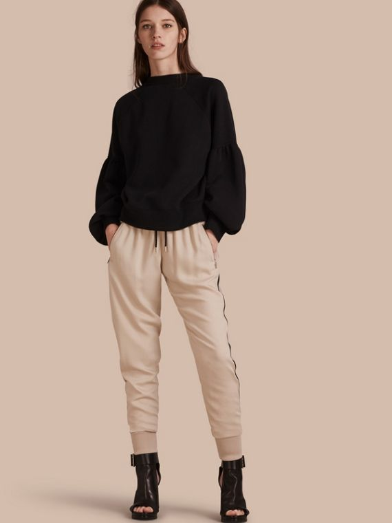 Zip Detail Jersey Sweat Pants