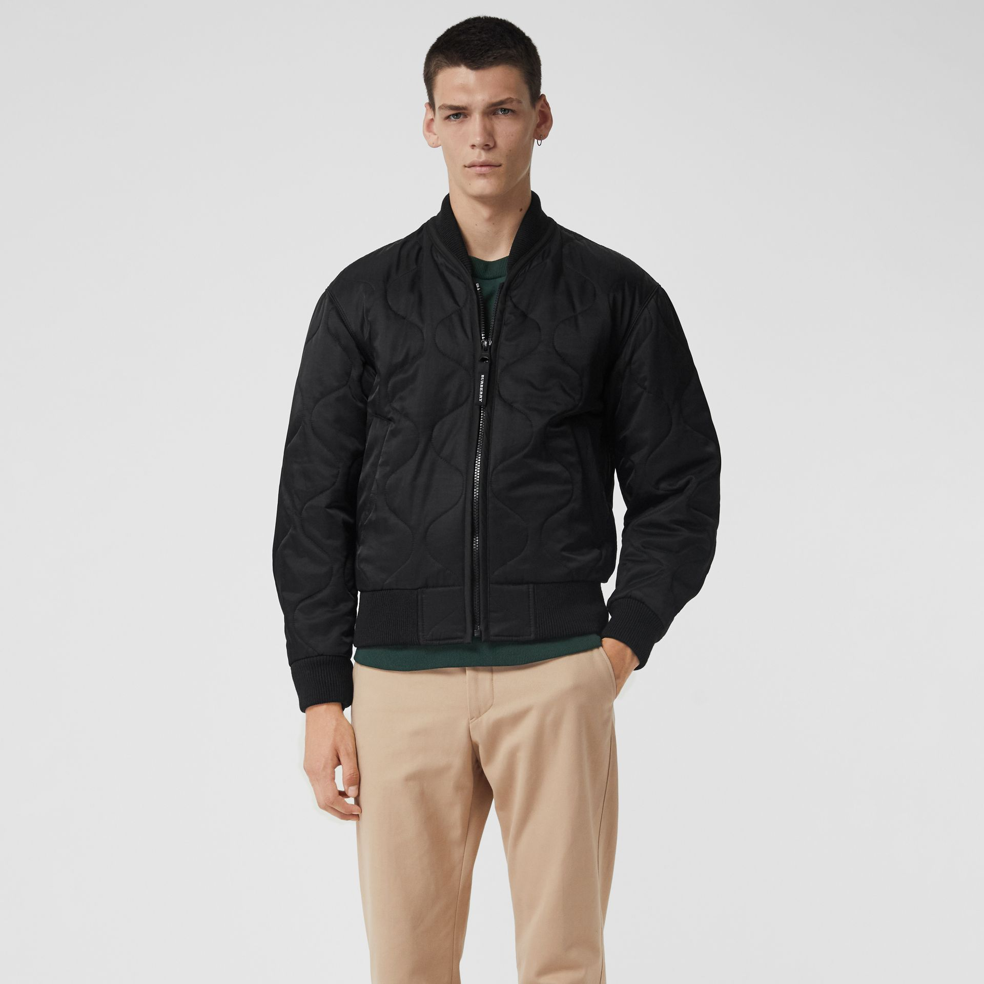 Quilted Bomber Jacket in Black - Men | Burberry - gallery image 5