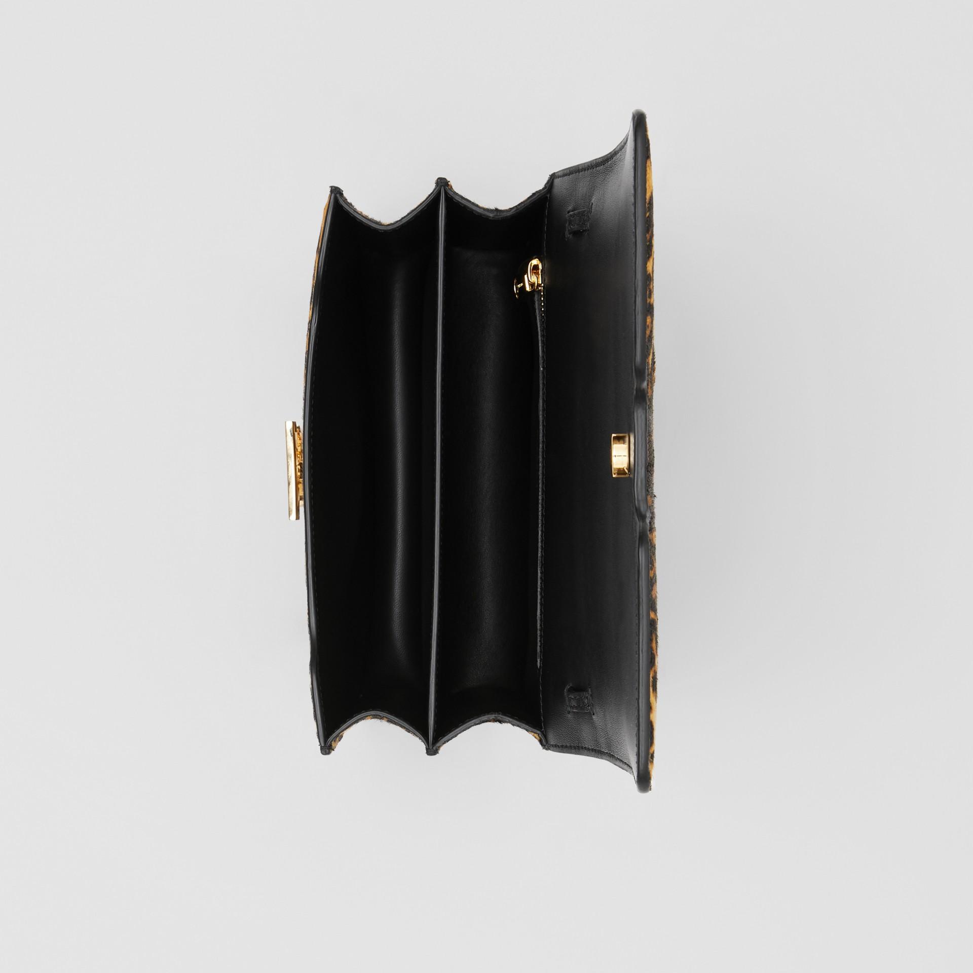 Small Leopard Print Calf Hair TB Bag in Dark Mustard - Women | Burberry Hong Kong S.A.R - gallery image 4