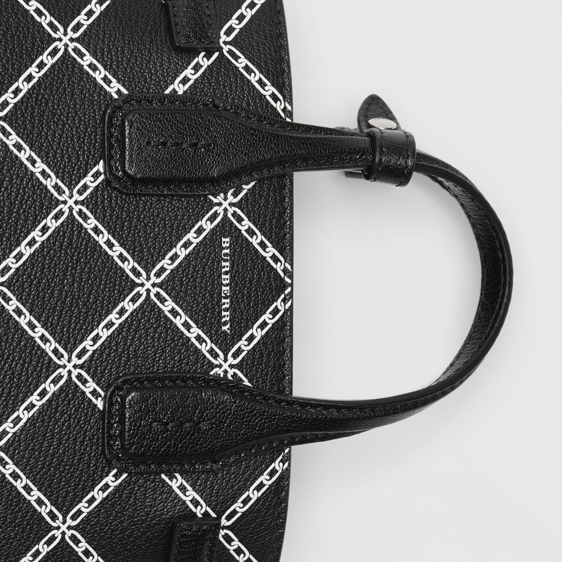 The Baby Banner in Link Print Leather in Black - Women | Burberry - gallery image 1