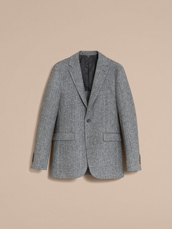 Slim Fit Herringbone Wool Tailored Jacket - cell image 3