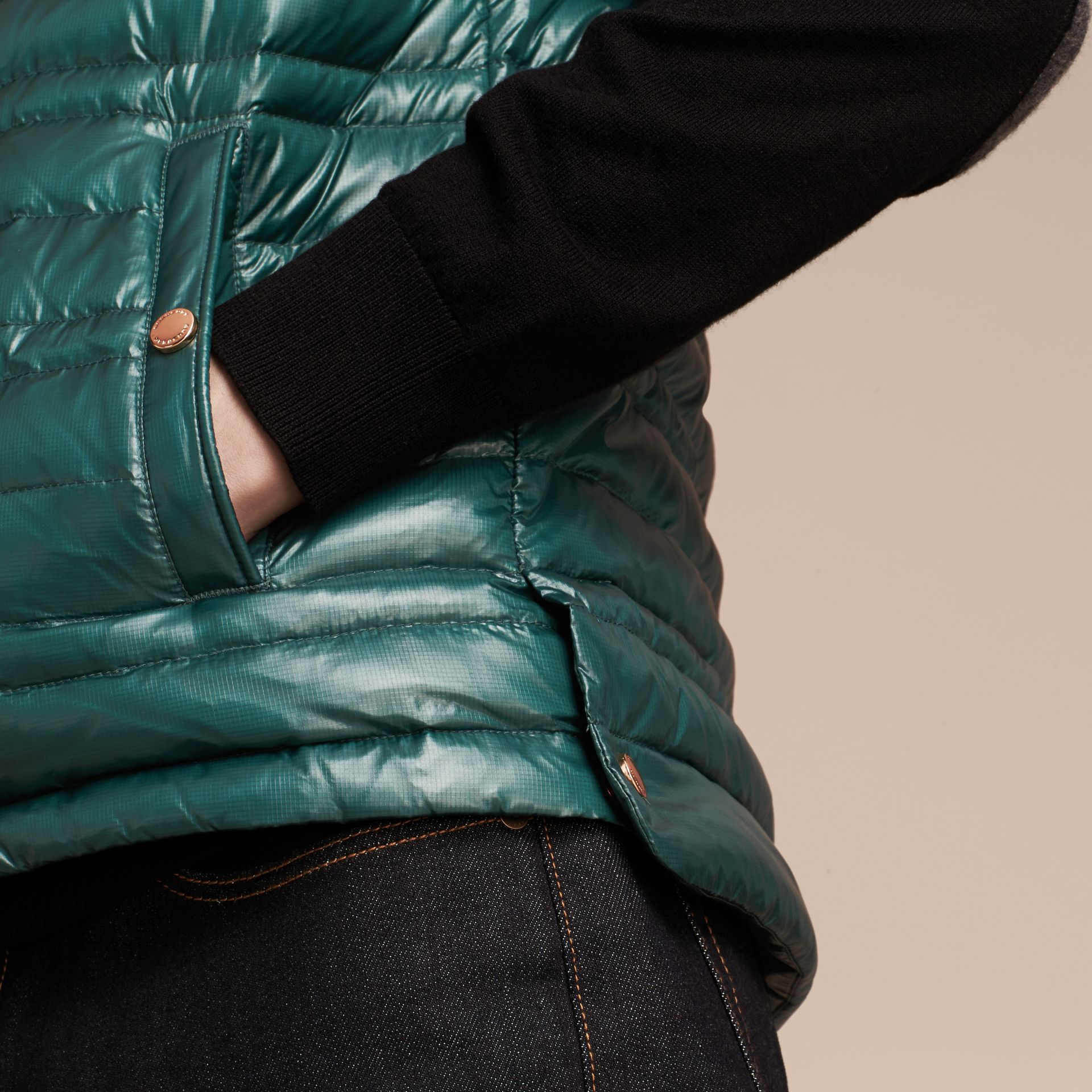 Pine green Lightweight Down-filled Gilet Pine Green - gallery image 6