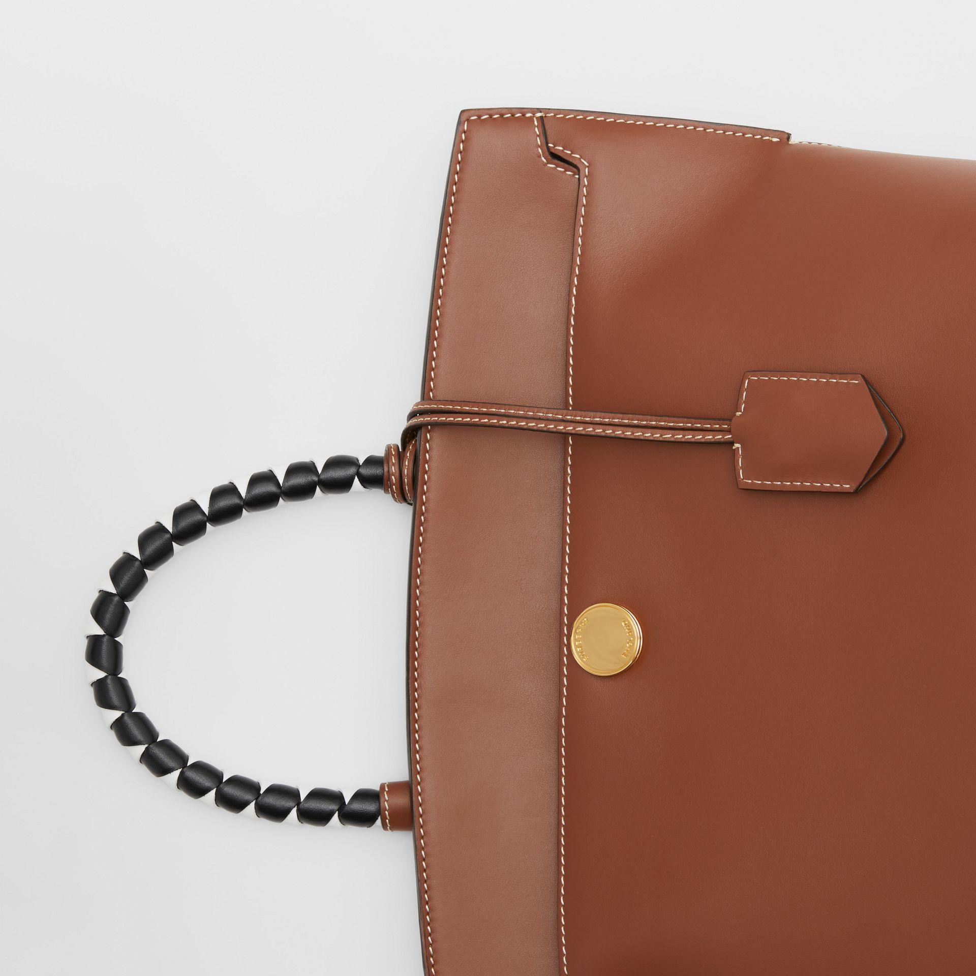 Small Leather Society Top Handle Bag in Tan - Women | Burberry - gallery image 1