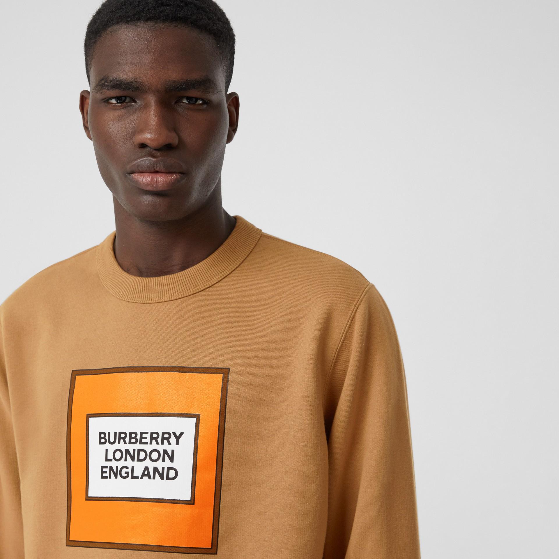 Толстовка с логотипом Burberry (Теплый Ореховый) - Для мужчин | Burberry - изображение 1