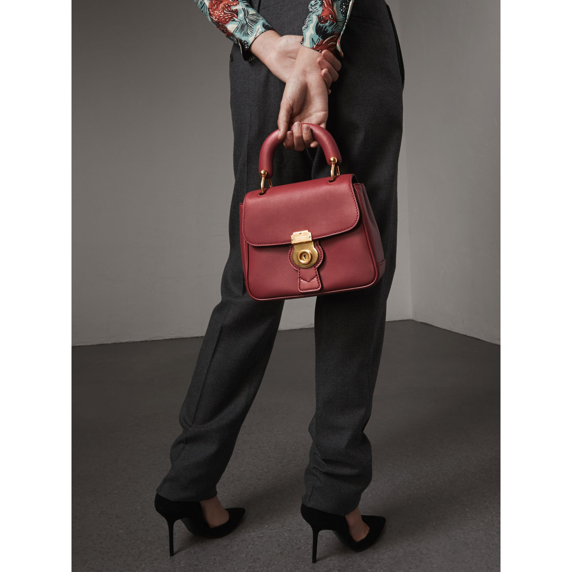 The Small DK88 Top Handle Bag in Antique Red - Women | Burberry United Kingdom - gallery image 3