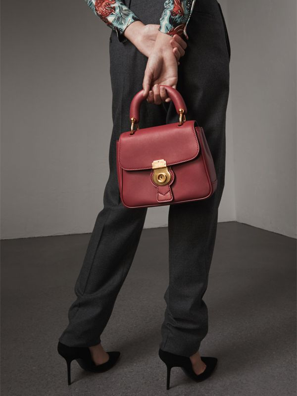 The Small DK88 Top Handle Bag in Antique Red - Women | Burberry - cell image 3