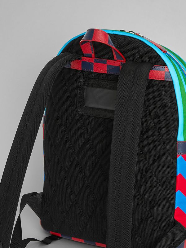 Graphic Print Nylon Backpack in Mineral Blue | Burberry - cell image 2