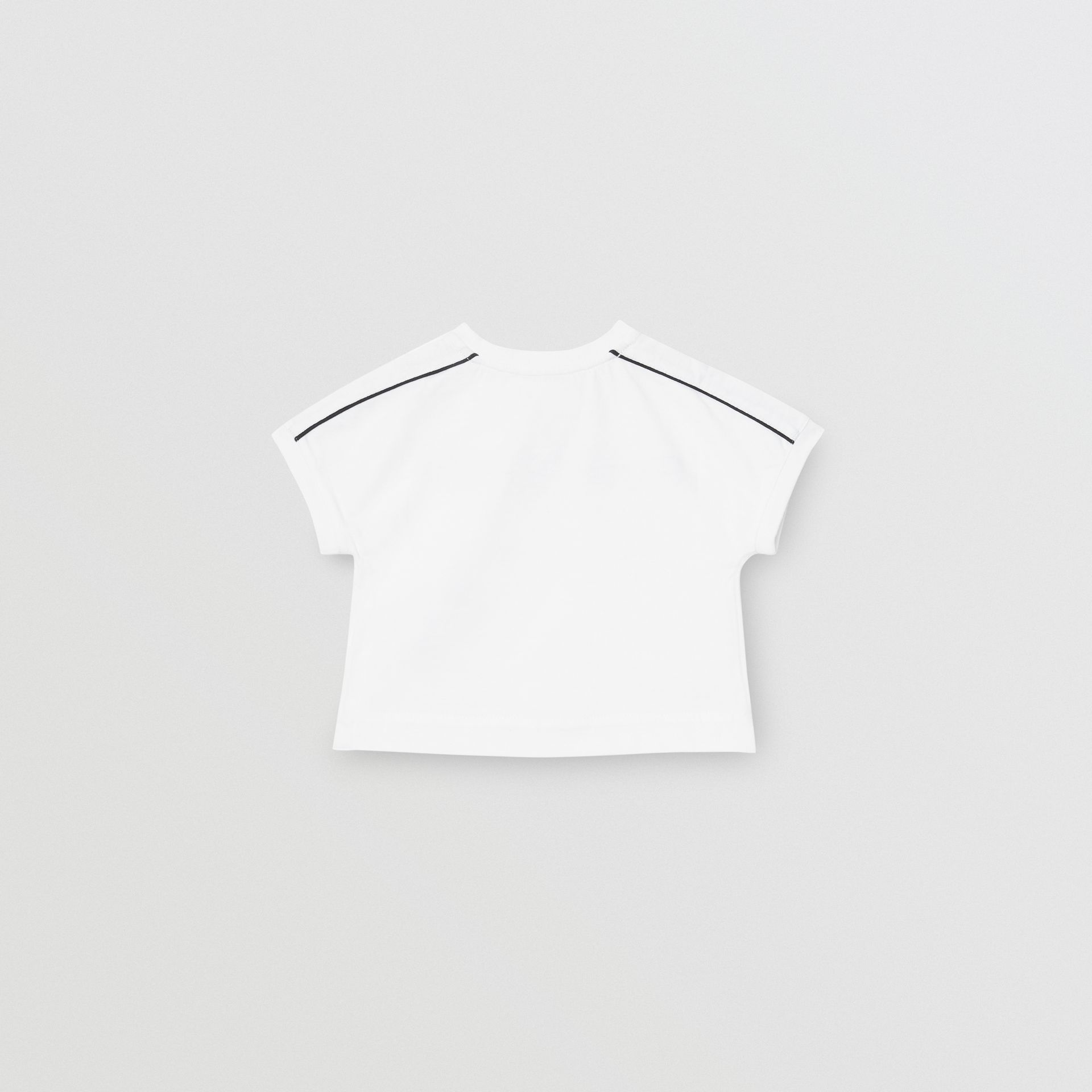 Logo Cotton T-shirt in White - Children | Burberry United Kingdom - gallery image 3