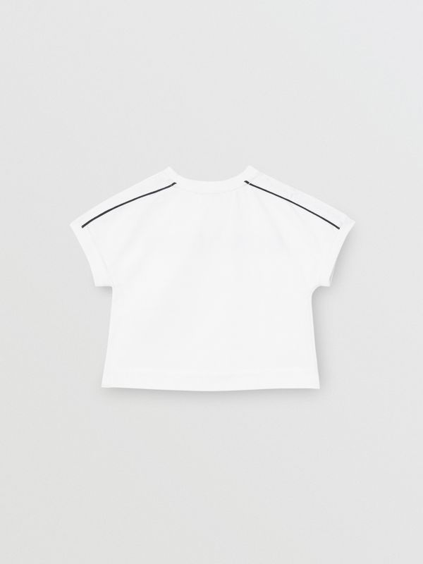 Logo Cotton T-shirt in White - Children | Burberry United Kingdom - cell image 3