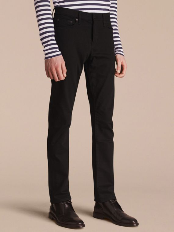 Straight Fit Stretch-denim Jeans - Men | Burberry Singapore