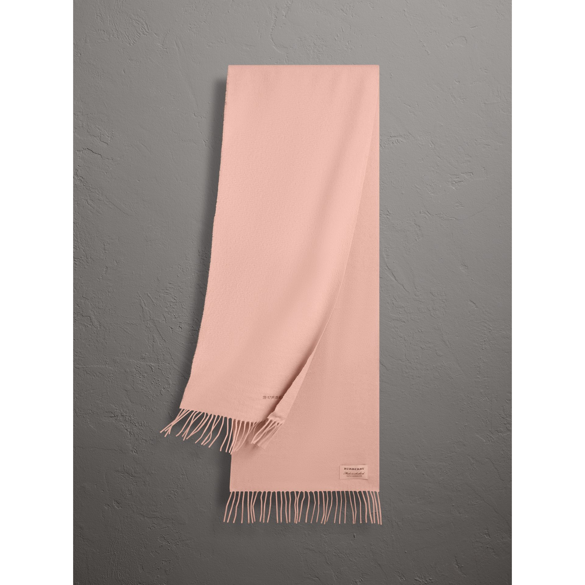 The Classic Cashmere Scarf in Ash Rose | Burberry - gallery image 0